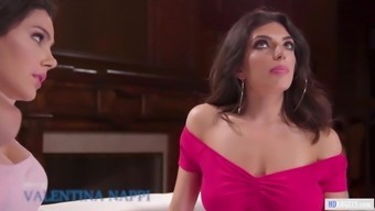 Valentina Nappi can't keep her eyes out of Darcie's breasts