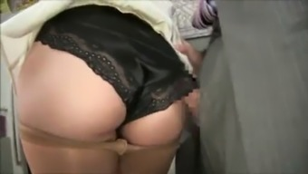 Japanese panty job cum