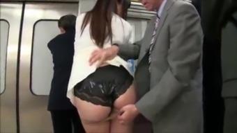 Japanese panty job cum