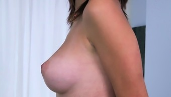 Racy girl Cece Capella with great tits gets fucked deep