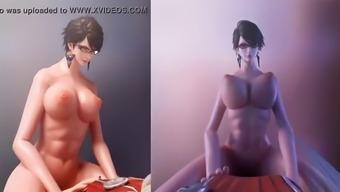 Bayonetta 3d hentai compilation