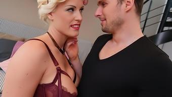 Big-Boob Blond Blanche's Anal passage/A2M Entertaining