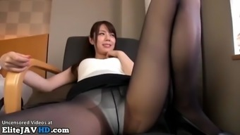 Jav attendant fucked in pantyhose and uniform