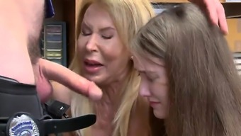 Caught jerking off by playmate's sister and her Both