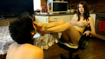 Feet thing femdom caring domina
