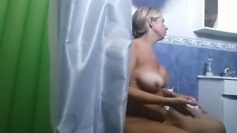 I finally could spy on my aunts big tits
