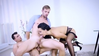 Bisex dude mounts cock