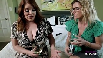 Accidental Threesome with My Step Mom and Aunt with HUGE tits - Maggie Green and Cory Chase
