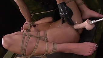 Insane bondage and extreme sex for the curvy ass slave girl