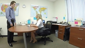 Mature gets laid at the office and swallows a big load