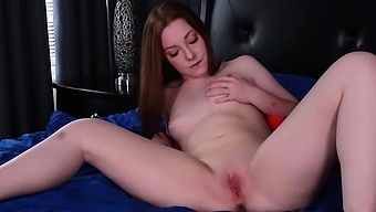 Cute, redheaded college girl Amber Addis was humored when