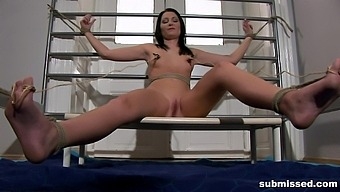 Fine babe gets tied up and fucked in a superb BDSM play