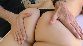 Sexy maid Briella Amora getting her wet cunt banged in different poses
