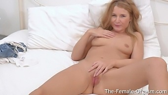 Hot MILFs Tiny Moist Pussy Clenches And Spasms As She Cums Twice