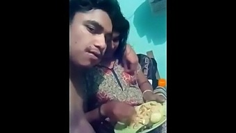 Kerala aunty with young boy