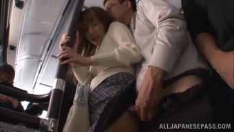 Kinky couple aren't going to return home for sexual intercourse, they do it right their own within the public public bus