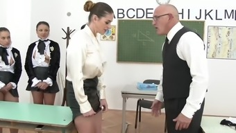 clothed babes in the more school like cathy jackpot, aida cute, aysha rouge