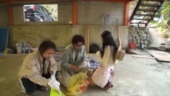 japanese people girl ravished well some randy stallions