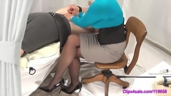 Female friend Handjob Seduce In Pantyhose