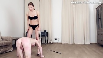 Smart leg thing diva by using genuine titties smack her tool superbly in BDSM