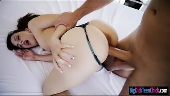 Small young adult Ashlynn Taylor pussy crushed by large complicated cock