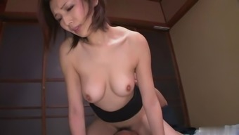 This lovely Japanese babe is a sexual intercourse machine and she's became a pleasant hirsuite pussy