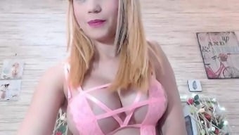 Big tits amateur Alexis Adams cums on top of her large amount products