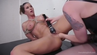 ariel by gets her stupid ass stretched by lorelei lee's fists plus a strapon