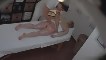 Busty Blond Fucks within the Massage therapy Parlor