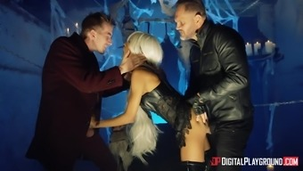 Alyssa Divine serves as a blonde ravished by using a a handful of big dicks