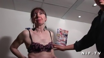 Naughty french senior banged fists fucked and sodomized
