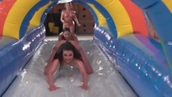 Girling - Riley Reid, Piper Perry, Abella Danger, and Friends Naked Dragging