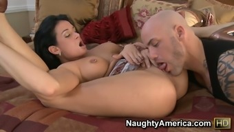 69 stance along with Tory Lane conducting a profound nostril sucking and starting on a shaft