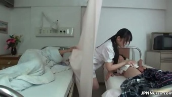 Japanese nurse loves being intimate with a couple of part3