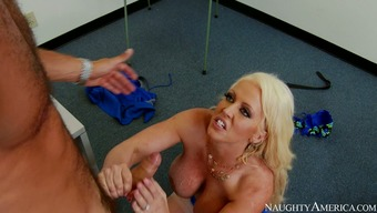 Huge big tits pale intercourse bomb Alura Jenson you're pleased with starved Danny Mountain by using stout BJ