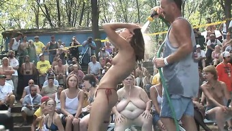 A bunch of ridiculous women get bare and begin performing arts when it comes to the video camera