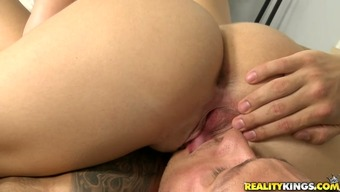 Plump mommie touching big manhood throat gagging in 69 stance