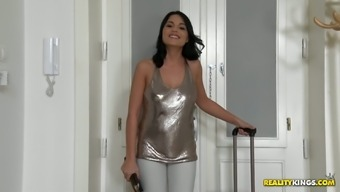 Cute babe Aida Sweet blows penis and gets fucked like there aren't any tomorrow