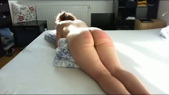 Wild docile big bottomed partner of my companion got her bum spanked