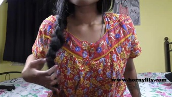 Horny Lily Attractive Indian Woman Part Make use of the