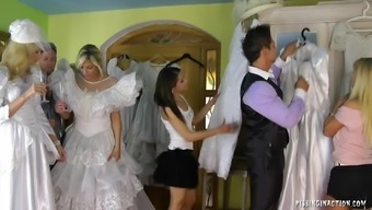 Very perverted bride to be succumbs to effectively intense fucking for the clothing area on the wedding ceremony morning