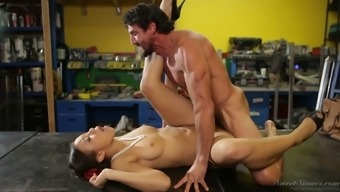 Follow Adrian Maya take her lover's solid dick inside a wide variety of positions