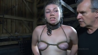 Big pickings thralldom doll great booty getting spanked in BDSM
