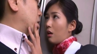 Notably luscious Japanese people stewardess gets lost hardcore while on board
