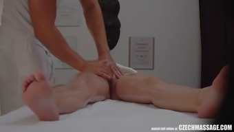 big tits bitch persuaded her masseur to complicated intercourse