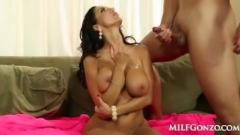 MILFGonzo Ava Adams stinks and fucks her boys good friend