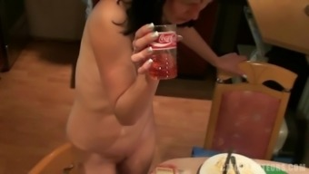 Intoxicated Brunette Having Her Boldly colored Brushed Pussy