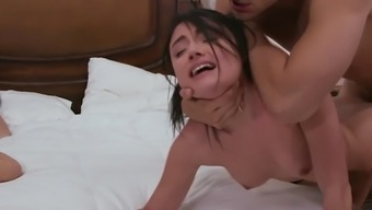 Adria Rae gets tyrannically fucked beside her mother