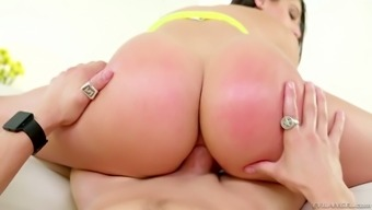 Just rattling good curvy gal Abella Risk is so much of a wild cowgirl