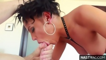 Mean facefuck by using Adriana Chechik